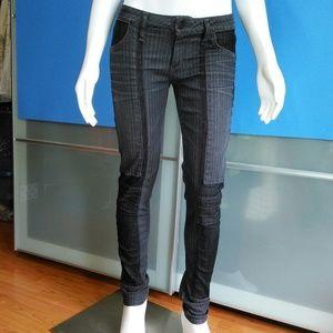 CITIZENS • Moto Panel Skinny Jeans / size (25)